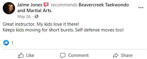Kids4, Beavercreek Taekwondo and Martial Arts